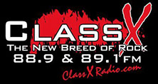 ClassX Rock 88.9 and 89.1 FM